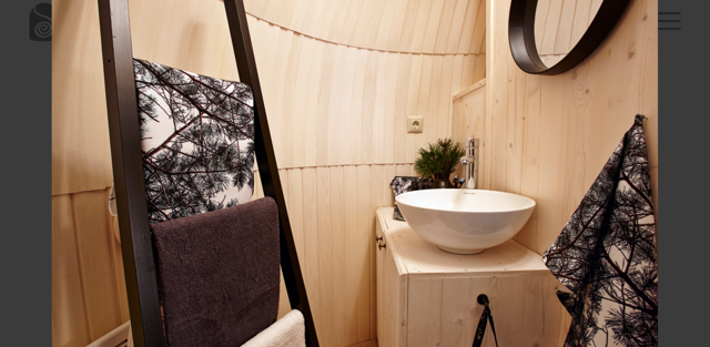 Iglu Camp kleines Badezimmer