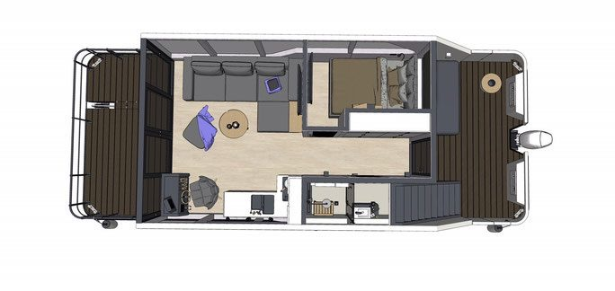 Hausboot Grundriss