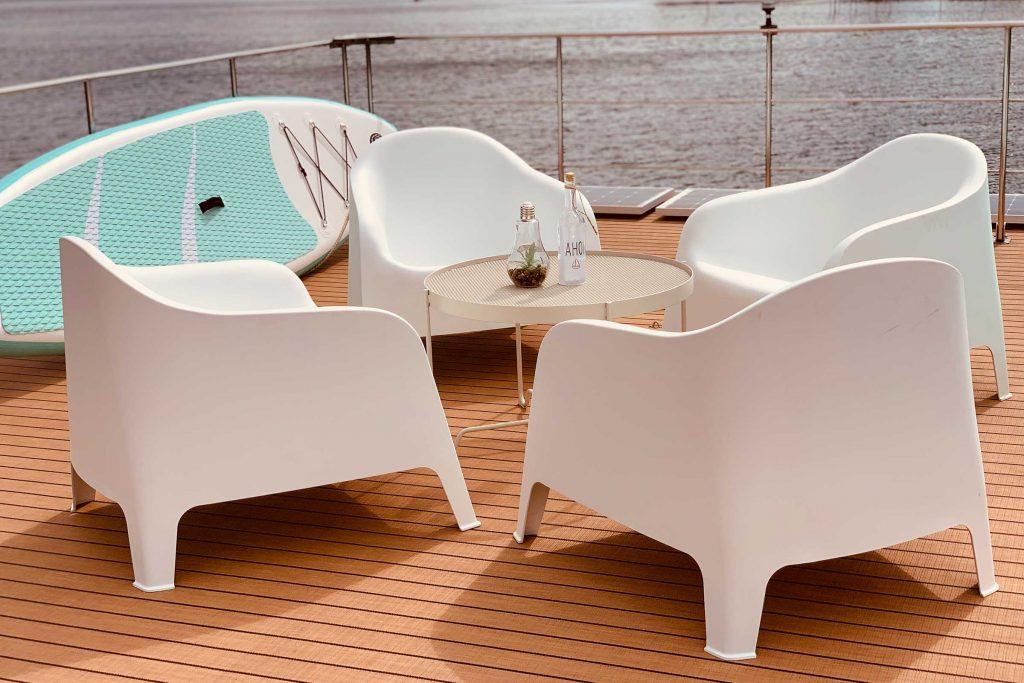 Hausboot Sitzecke